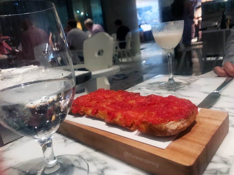 Pan con tomate at Bazaar Mar by Jose Andres at SLS Brickell